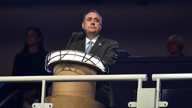 Le Premier ministre écossais Alex Salmond à l'ouverture des jeux du Commonwealth à Glasgow, le 23 juillet 2014 [Ben Stansall / AFP/Archives]