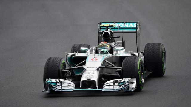 Nico Rosberg au volant de sa Mercedes lors du GP de Hongrie le 27 juillet à Budapest [Dimitar Dilkoff / AFP]