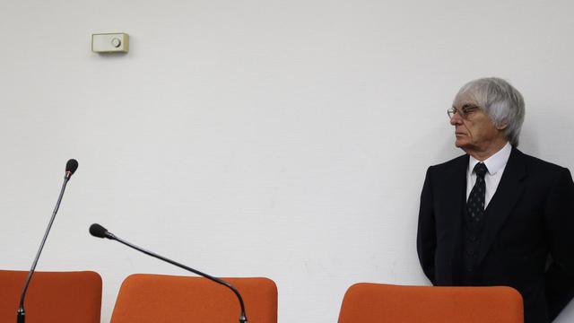 Le patron de la F1 Bernie Ecclestone, au tribunal de Munich, le 29 juillet 2014 [Matthias Schrader / POOL/AFP/Archives]
