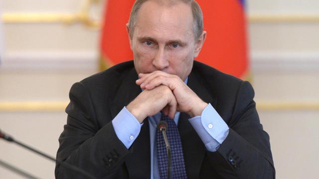 Le président Vladimir Poutine lors d'une réunion de son cabinet, le 30 juillet 2014 près de Moscou [Alexei Nikolsky / Ria-Novosti/AFP]