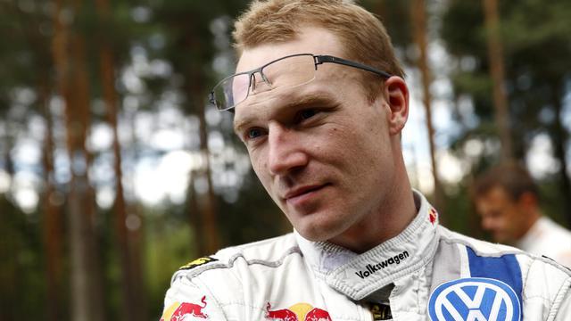Le pilote finlandais Jari-Matti Latvala (VW Polo-R) lors de la 2e journée du Rallye de Finlande, le 1er août 2014 à Jyvaskyla. [Roni Rekomaa / AFP]