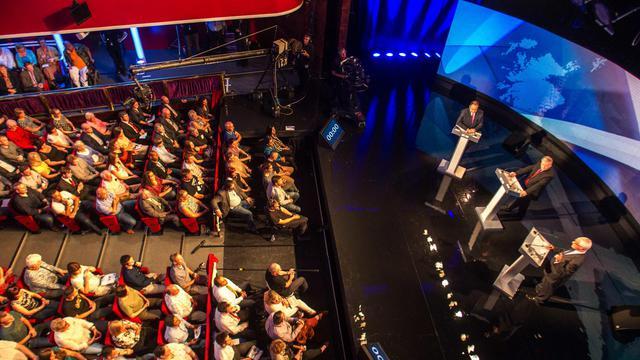 Débat télévisé entre partisan de l'indépendance de l'Ecosse et partisan du rattachement, le 5 aout 2014, avant le référendum du 18 septembre [Peter Devlin / POOL/AFP/Archives]