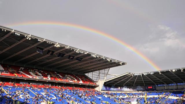 Le Cardiff City Stadium avant la Supercoupe d'Europe entre le Real Madrid et le Séville FC, le 12 août 2014 [Glyn Kirk / AFP]