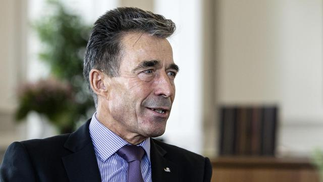 Anders Fogh Rasmussen, secrétaire général de l'Otan, le 15 aout 2014 à Copenhague [Niels Ahlmann Olesen / Scanpix Denmark/AFP/Archives]