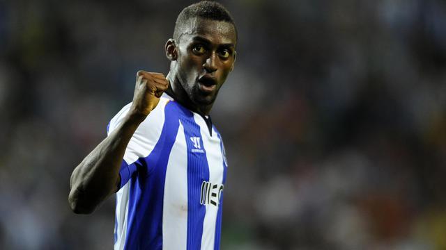 Le Colombien Jackson Martinez après avoir marqué lors du match entre le FC Porto et le Maritimo au stade du Dragon le 15 août 2014 [Miguel Riopa / AFP/Archives]