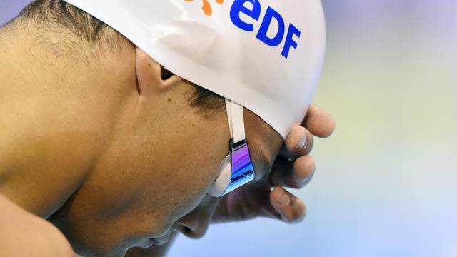 Florent Manaudou avant la finale du 50 m papillon des Championnats d'Europe de natation le 19 août 2014 à Berlin [ / AFP]