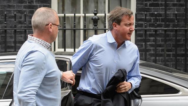 Le Premier ministre britannique David Cameron à Londres le 20 août 2014 [Leon Neal / AFP]