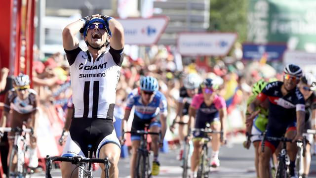 John Degenkolb à l'arrivée de la 4e étape de la Vuelta à Cordoue le 26 août 2014  [Jose Jordan / AFP]