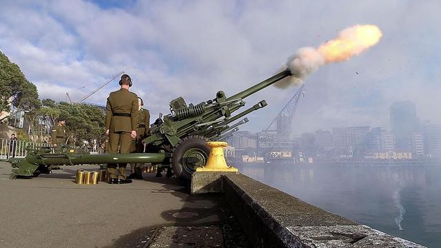 Cérémonie de commémoration du déclenchement de la Première Guerre mondiale, le 4 août 2014 à Wellington, en Nouvelle-Zélande [Marty Melville / AFP]