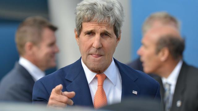 Le secrétaire d'Etat américain John Kerry arrive à Sydney, en Australie, le 11 août 2014 [Peter Parks / Pool/AFP]
