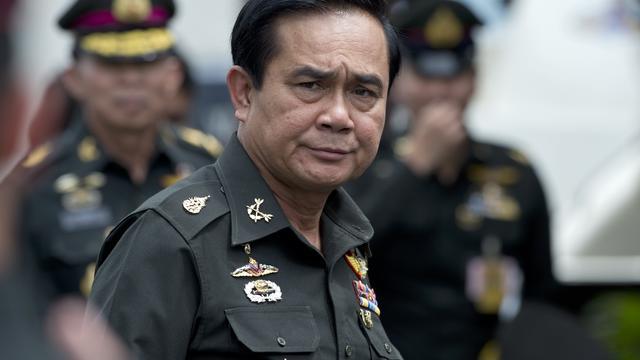 Le général Prayut Chan-O-Cha, chef de la junte thaïlandaise, lors de l'anniversaire du 21e régiment d'infanterie, dans la province de Chonburi le 21 août 2014 [Pornchai Kittiwongsakul / AFP/Archives]