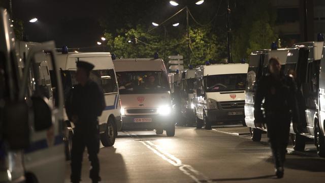 Des policiers anti-émeute à Trappes le 21 juillet 2013 [Miguel Medina / AFP/Archives]