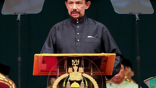 Le sultan Hassanal Bolkiah, le 22 octobre 2013 à Bandar Seri Begawan, capitale du Brunei [Dean Kassim / AFP]