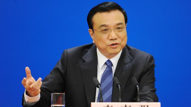 Le Premier ministre chinois Li Keqiang à Pékin le 13 mars 2014 [Wang Zhao / AFP]