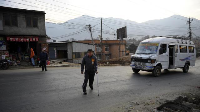 Bhupendra Malla, à Katmandou, le 14 janvier 2014 [Prakash Mathema  / AFP]