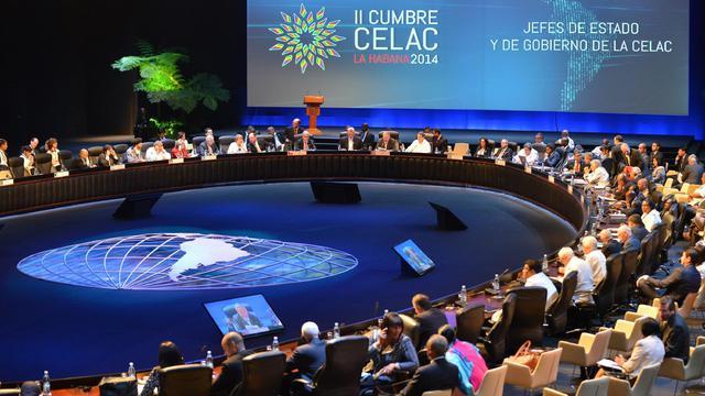 Le 2e sommet de Communauté des Etats d'Amérique latine et des Caraïbes (Celac), le 29 janvier 2014 à La Havane [Adalberto Roque / AFP]