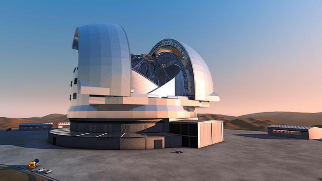 Image obtenue auprès de l'Observatoire austral européen  de son European Extremely Large Telescope (E-ELT) dont le chantier a démarré au Chili et qui est amené à devenir le plus grand télescope optique au monde [ho / European Southern Observatory/AFP]