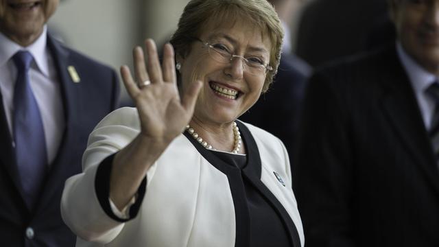 La présidente chilienne Michelle Bachelet à Brasilia le 16 juillet 2014 [Nelson Almeida / AFP/Archives]