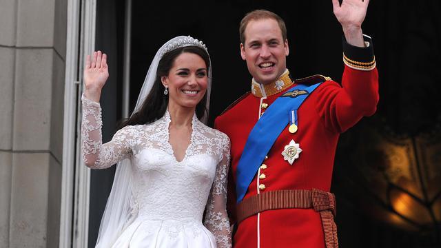 Le prince William et Kate Middleton, après leur mariage le 29 avril 2011 à Londres
