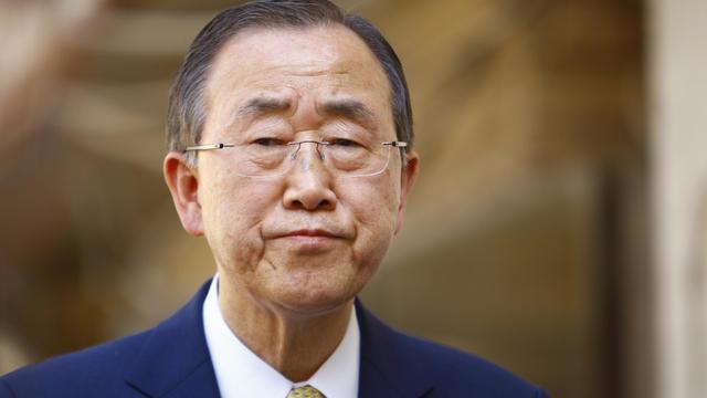 Le secrétaire général des Nations unies, Ban Ki-Moon, le 24 juillet 2014 à Najaf, en Irak [Haidar Hamdani / AFP/Archives]