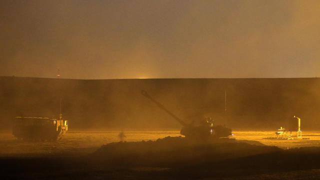 Tir israélien le 31 juillet 2014 sur la Bande de Gaza [Jack Guez / AFP]
