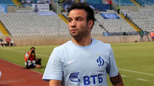Mathieu Valbuena avant le match entre le Dynamo Moscou et Kiryat Shmona à Nicosie, le 7 août 2014 [Yiannis Kourtoglou / AFP/Archives]