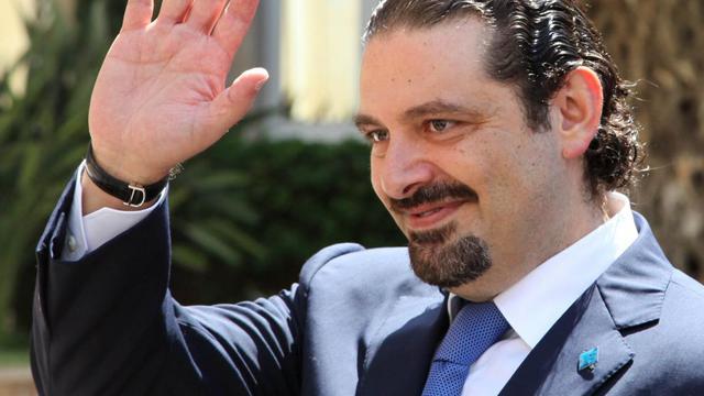 Photo fournie le 8 août 2014 par l'agence libanaise Dalati et Nohra montrant l'ancien Premier ministre libanais Saad Hariri à Beyrouth avant sa rencontre avec le Premier ministre en exercice Tammam Salam   [ / AFP]