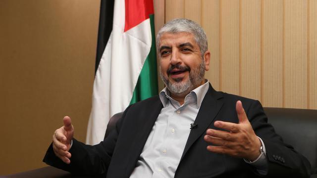 Le chef du Hamas Khaled Mechaal, le 10 août 2014 lors d'un entretien avec l'AFP à Doha [Karim Jaafar / Al-Watan Doha/AFP/Archives]