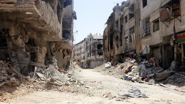 Une banlieue de Damas le 15 août 2014 [Louai Beshara / AFP/Archives]