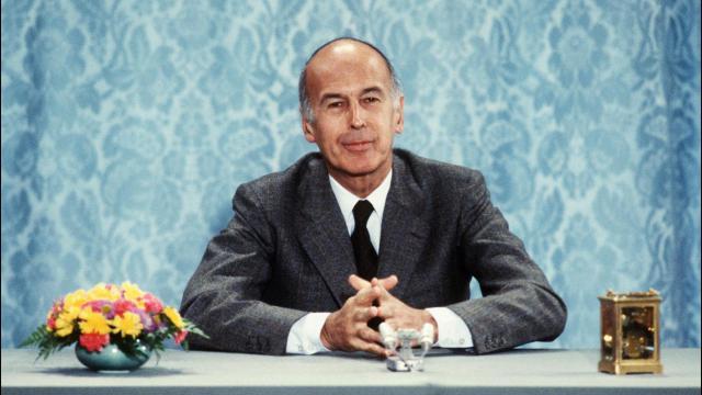 Le président de la république Valéry Giscard d'Estaing, le 26 juin 1980 à l'Elysée.