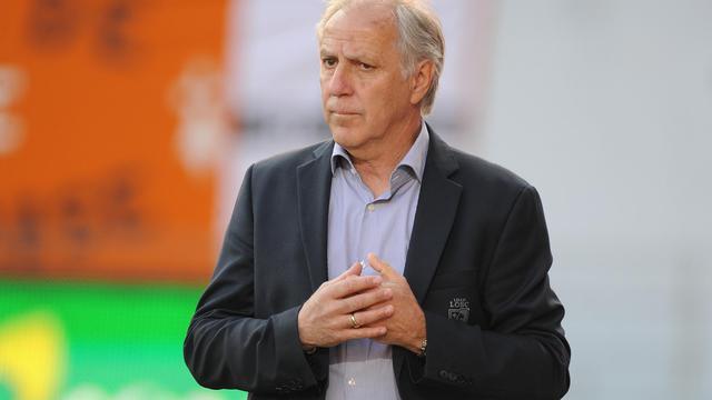L'entraîneur de Lille René Girard, lors d'un match de L1 à Lorient, le 17 mai 2014 [Jean-Sébastien Evrard / AFP]