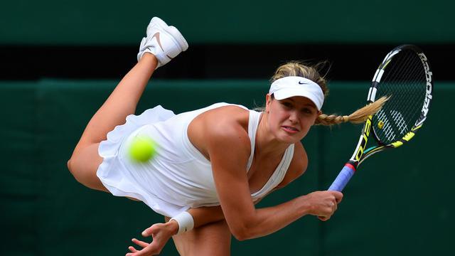 La Canadienne Eugénie Bouchard au cours de la finale de Wimbledon contre la Tchèque Petra Kvitova le 5 juillet 2014 à Londres [ / AFP/Archives]