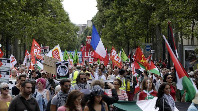 Manifestation pro-Gaza à Paris le 9 août 2014   [Kenzo Tribouillard / AFP]