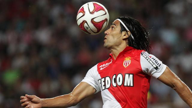 L'attaquant colombien de Monaco Radamel Falcao pendant le match de Ligue contre Lorient le 10 août 2014 au stade Louis II [Jean-Christophe Magnenet / AFP]