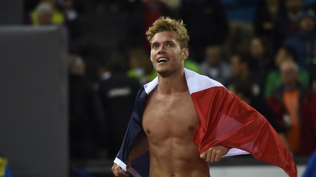 Le décathlonien français Kevin Mayer, médaillé d'argent aux Championnats d'Europe, le 13 août 2014 à Zurich [Franck Fife / AFP]