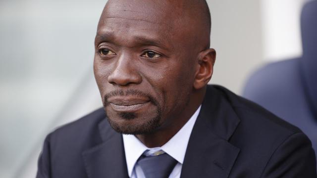 Claude Makelele entrâineur de Bastia lors du match contre le Paris SG au Parc des Princes le 16 août [Thomas Samson / AFP]