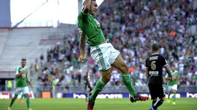 L'attaquant de Saint-Etienne Mevlut Erding, auteur du 3e but face à Reims, le 17 août 2014 à Geoffroy-Guichard [Jean-Philippe Kziazek / AFP]
