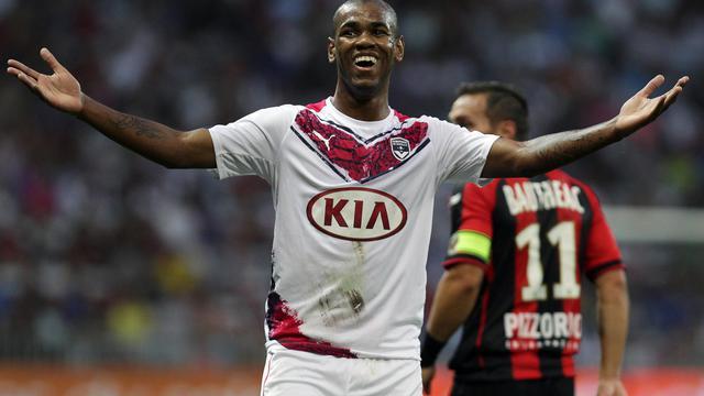 L'attaquant uruguayen de Bordeaux Diego Rolan lors de la victoire contre Nice (3-1) lors de la 3e journée de L1, le 23 août 2014 [Jean-Christophe Magnenet / AFP]
