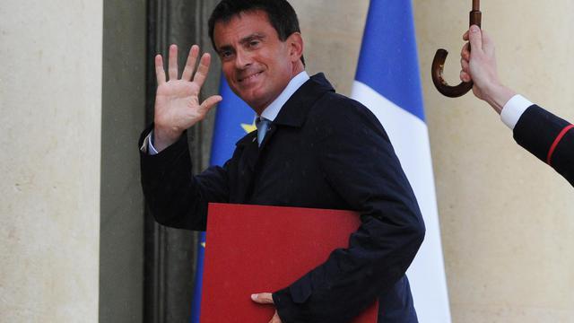 Manuel Valls à l'elysée le 25 aout 2014 [Dominique Faget / AFP/Archives]