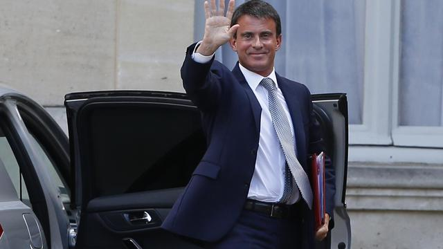 Manuel Valls arrivant à Matignon le 26 aout 2014 [Thomas Samson / AFP]