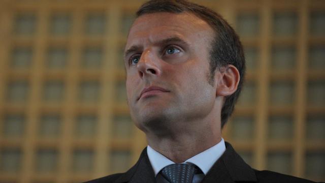 Le nouveau ministre de l'Economie, Emmanuel Macron, le 27 août 2014 lors de la passation de pouvoirs, à Bercy   [Eric Piermont / AFP]