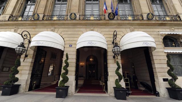 L'entrée de l'hotel Ritz à Paris, en 2011 [Miguel Medina / AFP/Archives]