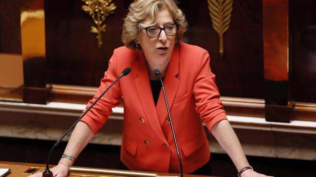 La ministre de l'Enseignement supérieur et de la Recherche, Geneviève Fioraso, le 22 mai 2013 à l'Assemblée nationale [PATRICK KOVARIK / AFP/Archives]