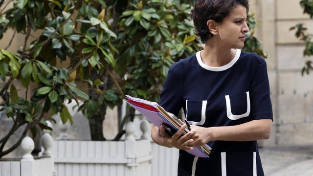 La ministre des Droits des femmes, Najat Vallaud-Belkacem, arrive à Matignon, le 12 juin 2013 [JOEL SAGET / AFP/Archives]
