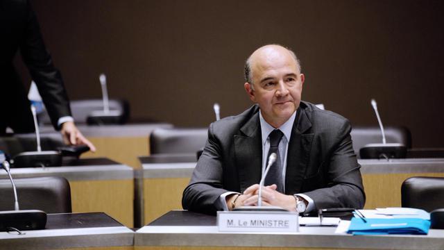 Le ministre de l'Economie Pierre Moscovici devant la commission d'enquête parlementaire sur l'affaire Cahuzac, le 16 juillet 2013 [Martin Bureau / AFP]