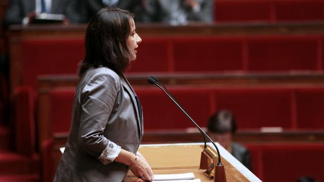 La ministre du Logement Cécile Duflot devant les députés à l'Assemblée Nationale, le 10 septembre 2013 [Jacques Demarthon / AFP]