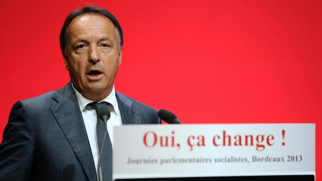 """Le président du Sénat, le socialiste Jean-Pierre Bel, le 24 septembre 2013 lors des """"Journées parlementaires socialistes"""" à Bordeaux [Nicolas Tucat / AFP/Archives]"""