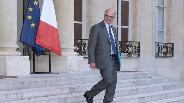 Pierre Moscovici quitte le palais de l'Elysée, le 1er octobre 2013 [Jacques Demarthon / AFP]