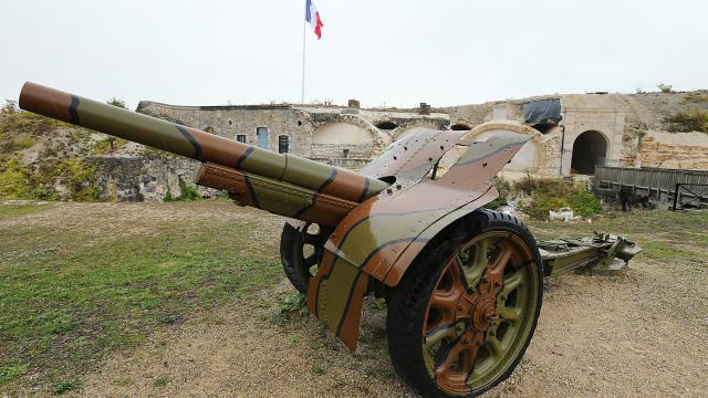 Présentation de l'artillerie utilisée pendant la Première Guerre mondiale, à Fort de la Pompelle, près de Reims, le 5 octobre 2013 [François Nascimbeni / AFP/Archives]