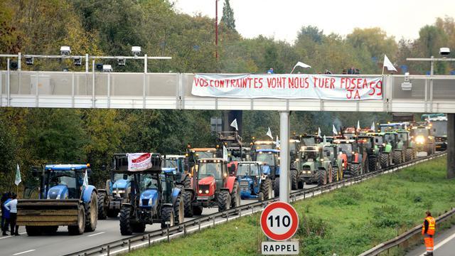 Des tracteurs avaient notamment bloqué l'autoroute A2 près de Valenciennes, en novembre 2013.
